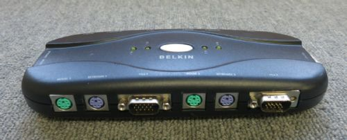 Belkin F1DJ104P 4 Port OmniView PS/2 KVM Switch Requires No Power Supply